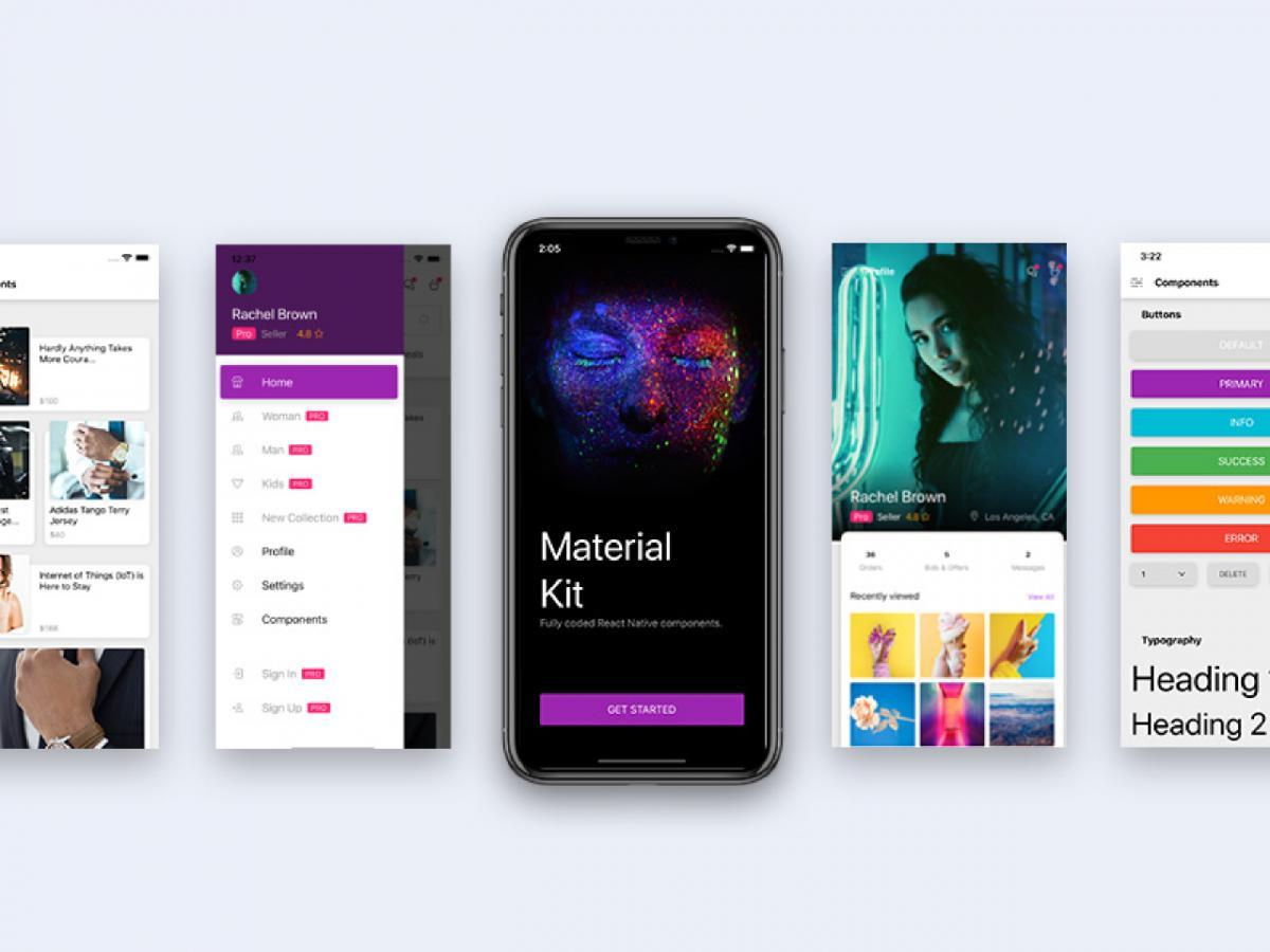 Material Kit React Native - Figma Mobile Template