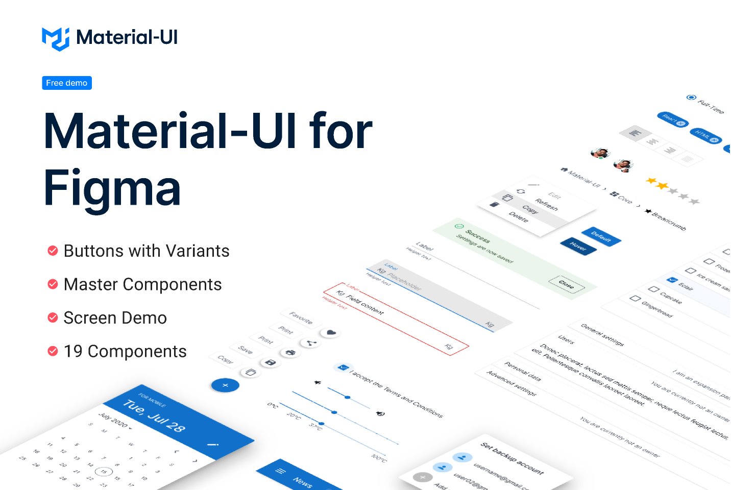 Material-UI for Figma (Free Demo)