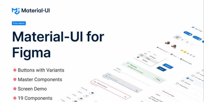 Material-UI for Figma (Free Demo)