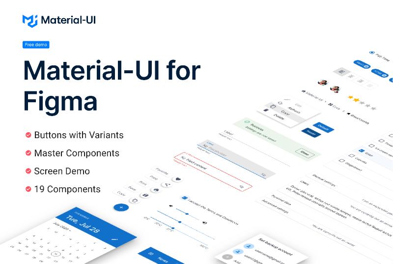 Material-UI for Figma v4.12.0 (Free Demo)