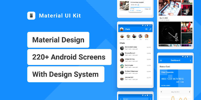 Material UI Kit for Android Figma