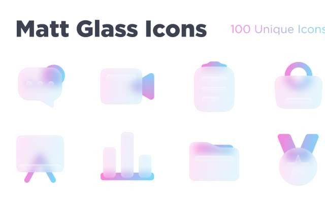 Matt Glass Icons Figma Free