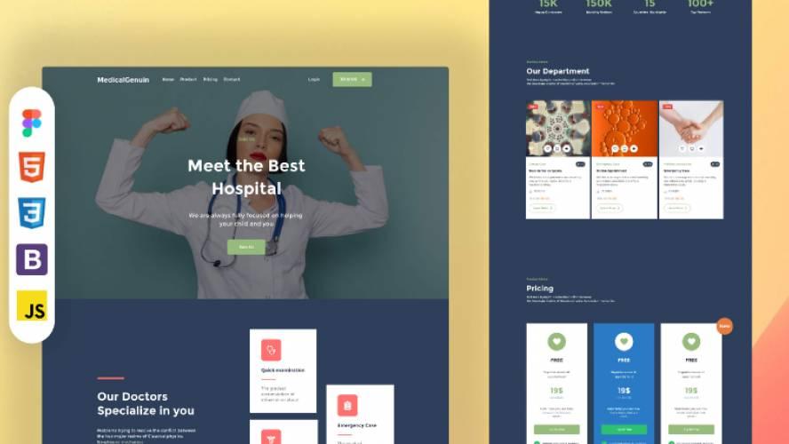Medical Genuine - responsive websitetemplate free