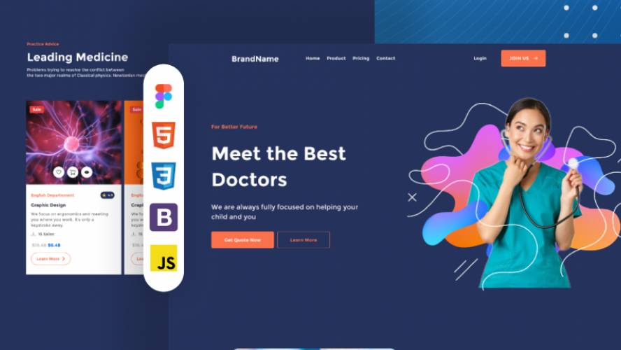 Medical Reliable - simplewebsite figma template