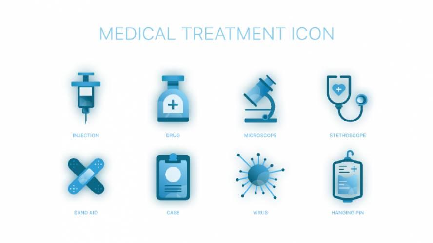 MEDICAL TREATMENT ICON fima