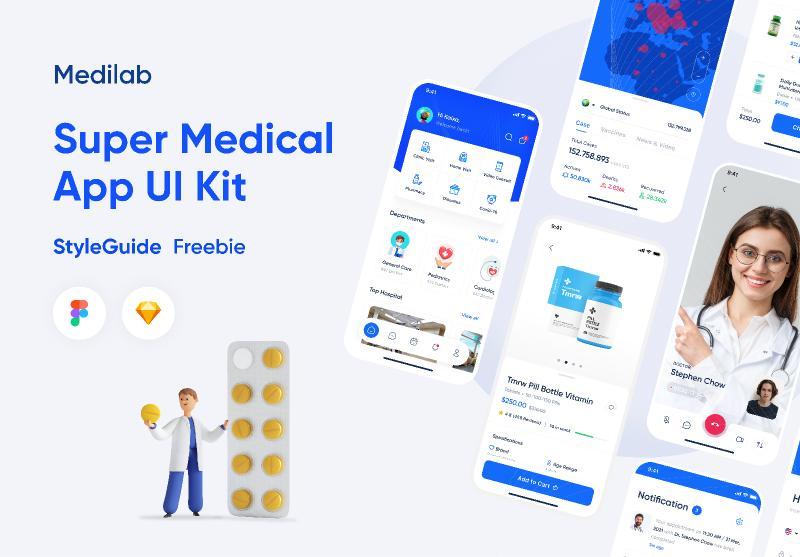 Medilab - Super Medical UI Kit Figma [Styleguide Freebie]