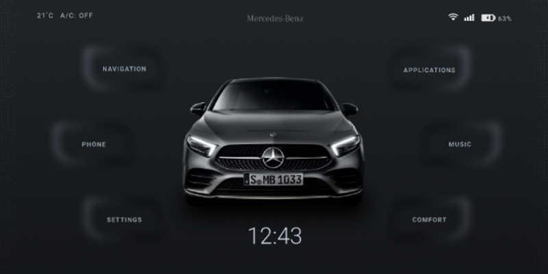 Mercedes Infotainment Concept