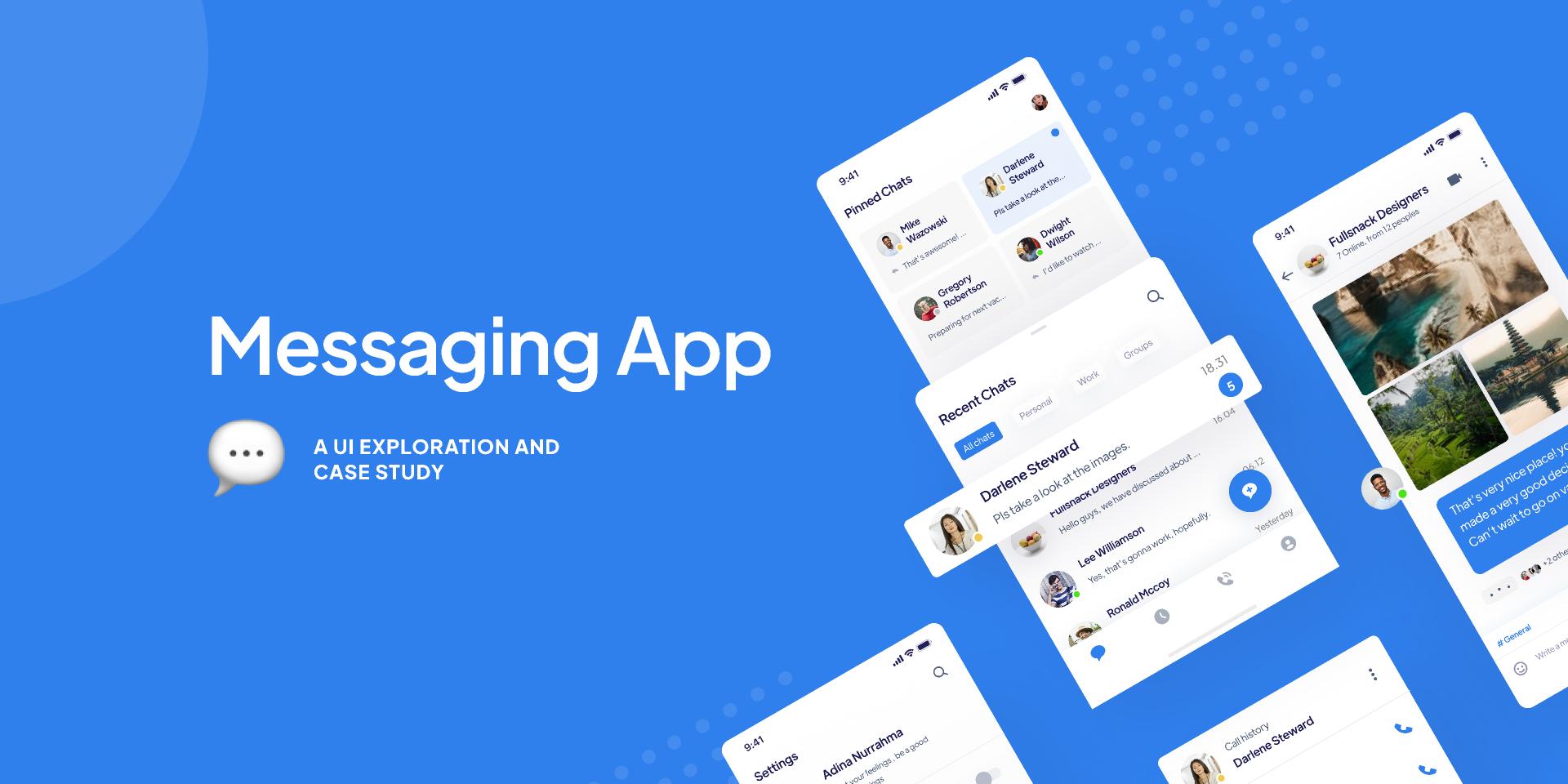 Messaging App UI Figma