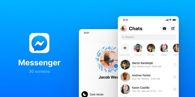 Messenger UI Screens