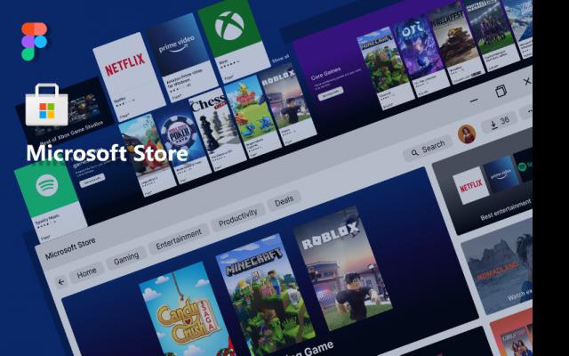 Microsoft Store Figma design