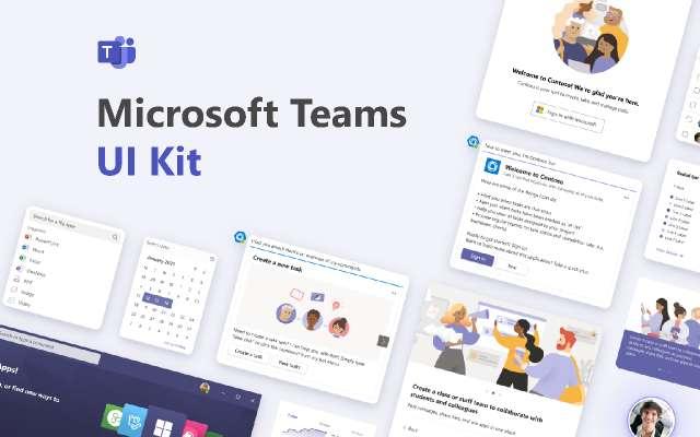 Microsoft Teams UI Kit figma free