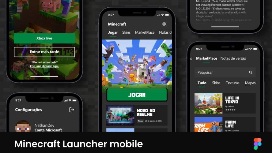 Minecraft Launcher Mobile Figma