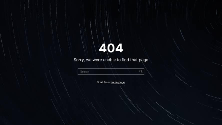 Minimal 404 Page Figma Template Free Download