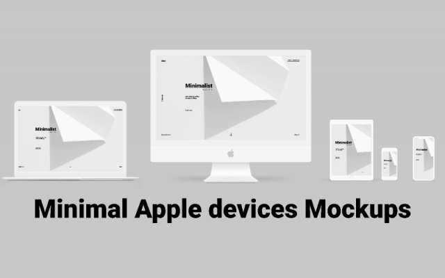 Minimal Apple devices Mockups