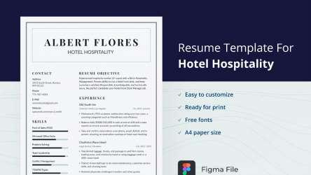Minimal Resume Design Figma 2021