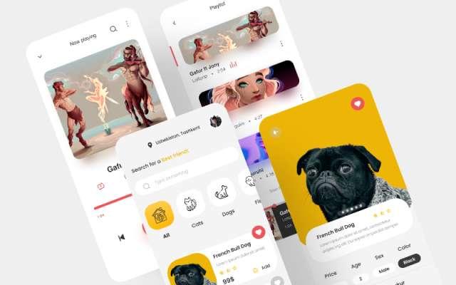 Figma Mobile app designs