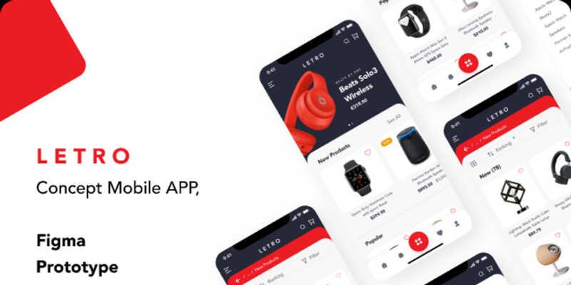 Mobile App Prototype, Animation