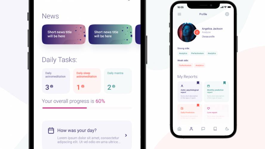 Mobile application Figma templates