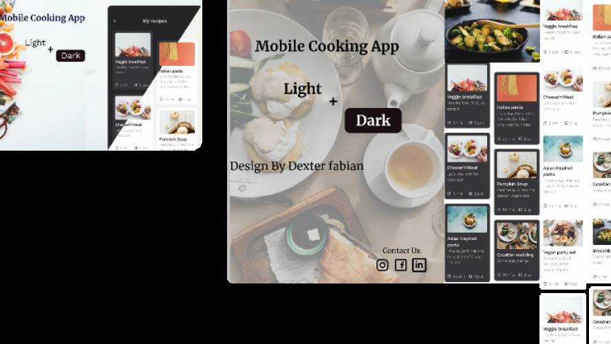 Mobile Cooking Figma mobile app