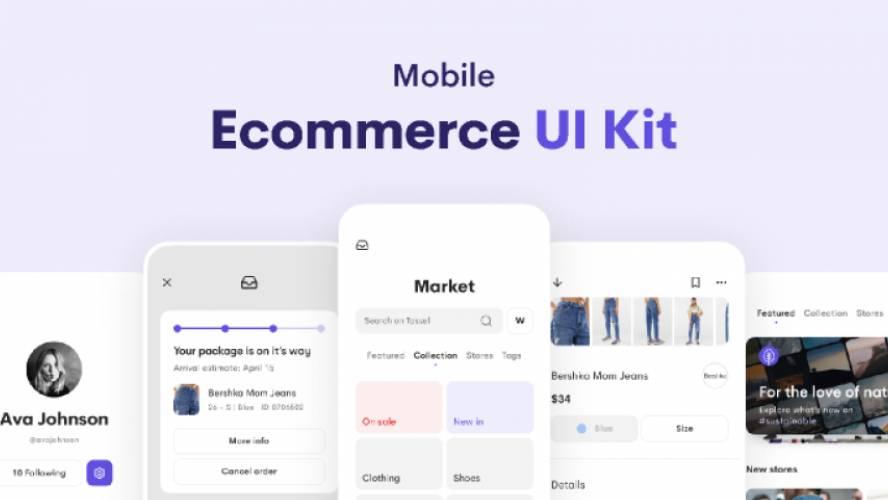 Mobile Ecommerce UI Kit figma free