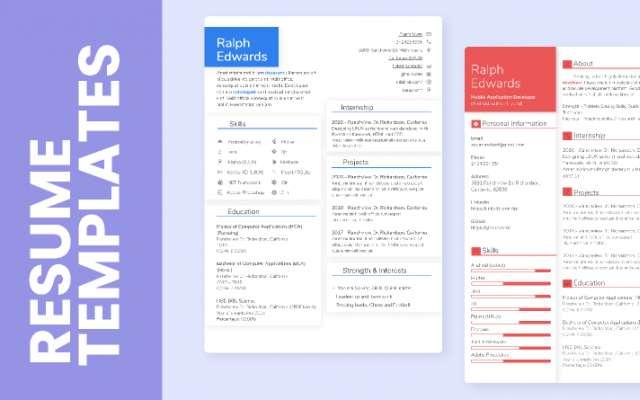 Modern Resume Template figma