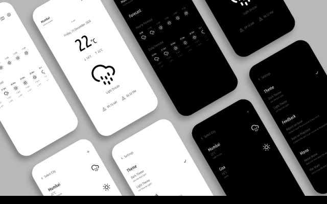Mono Weather UI Kit figma