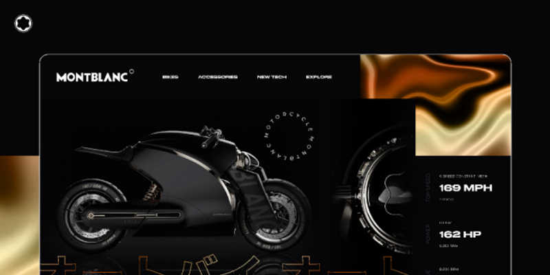 Montblanc - Motorcycle website concept design