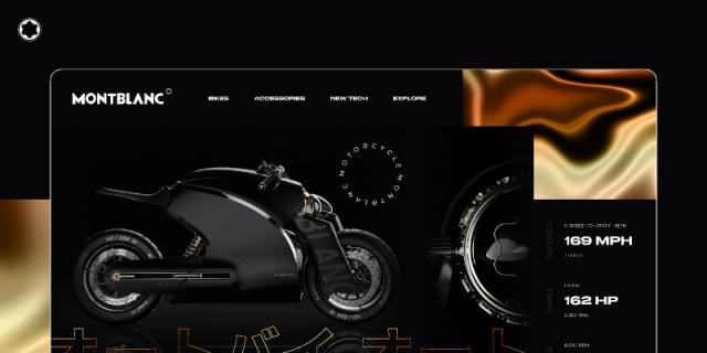 Montblanc - Motorcycle website concept design