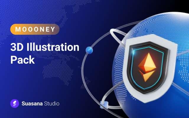 Moooney - 3D Illustration Pack