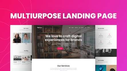 Multipurposse Landing Page Figma Free Design