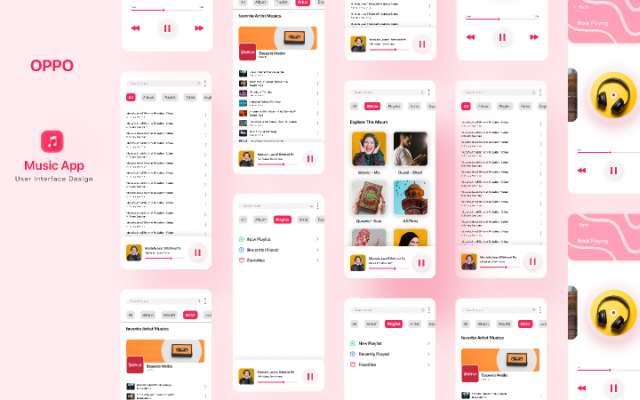 Music App Design OPPO Music App Figma