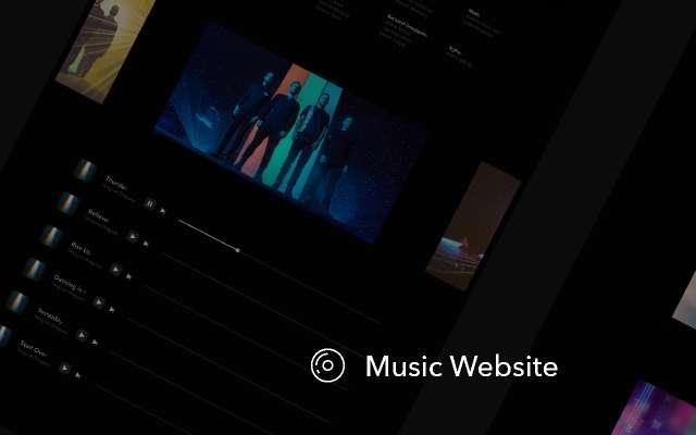 Music fun Website figma