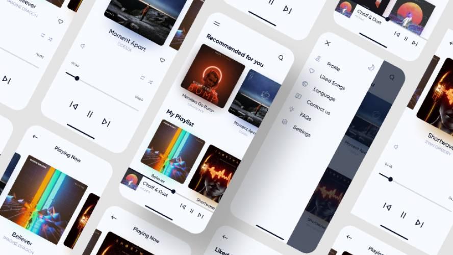 Music Player UI KIT? figma