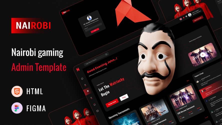 Nairobi – Free Bootstrap 5 Gaming Admin Dashboard inspired  Figma Template