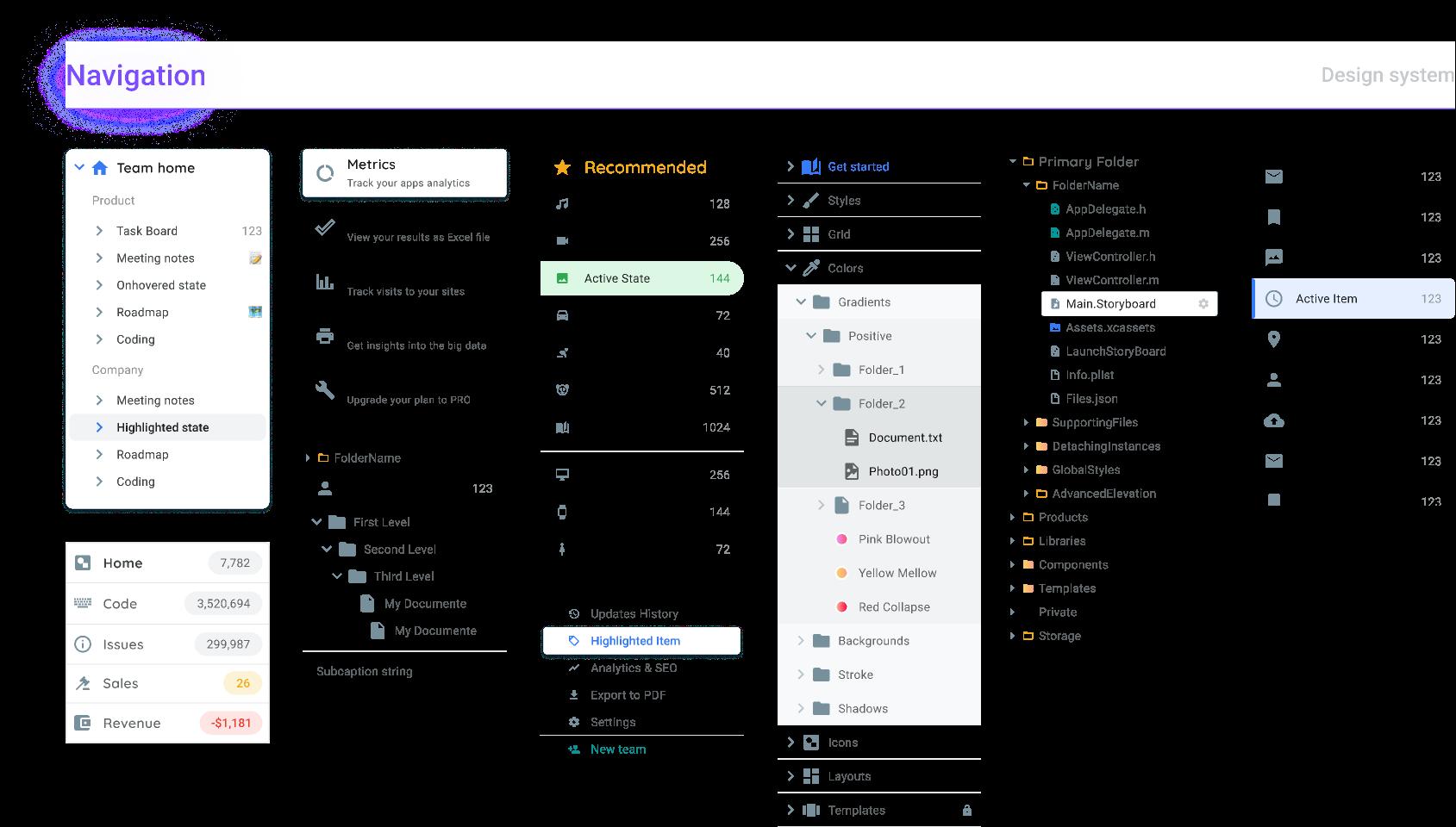 Navigation UI components