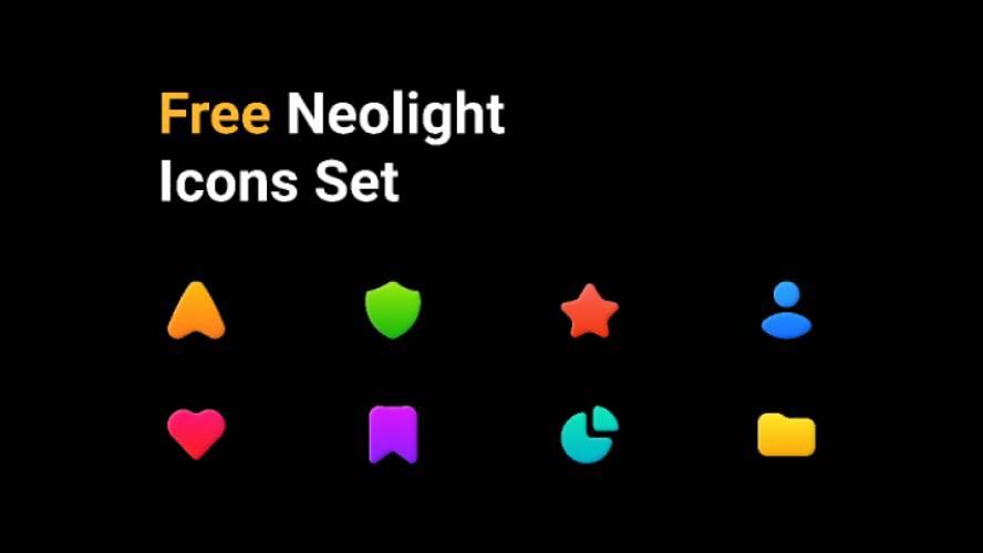 Neolight Icons set - Free Figma