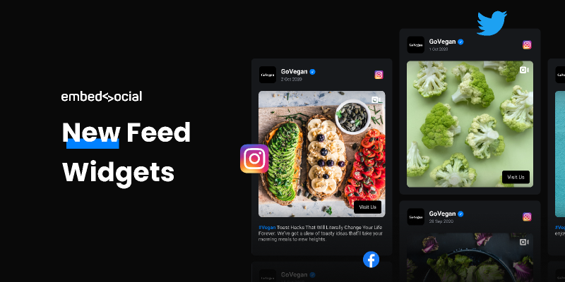 New Social Media Feeds: Templates and Demos Figma