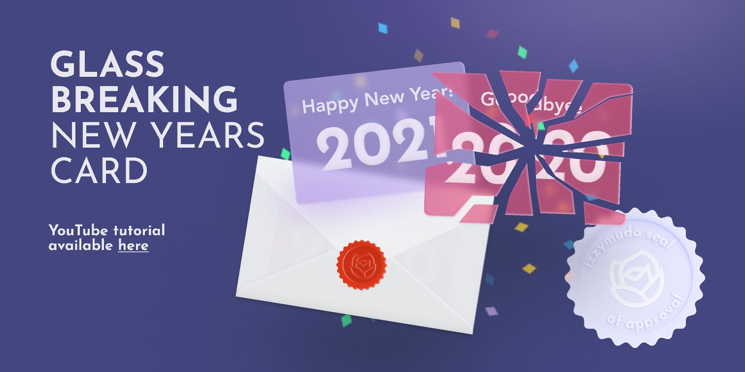 New Years Card Glassmorphism Figma