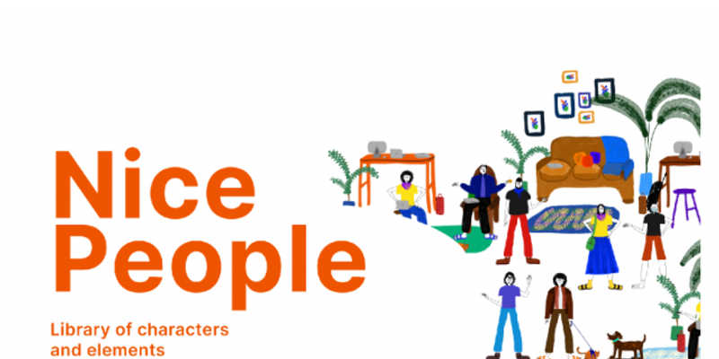 Nice people - characters and elements Figma teamplate