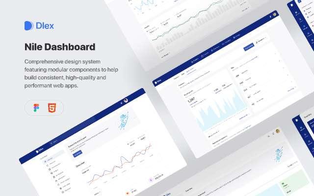 Nile Dashboard & Design system - Light figma