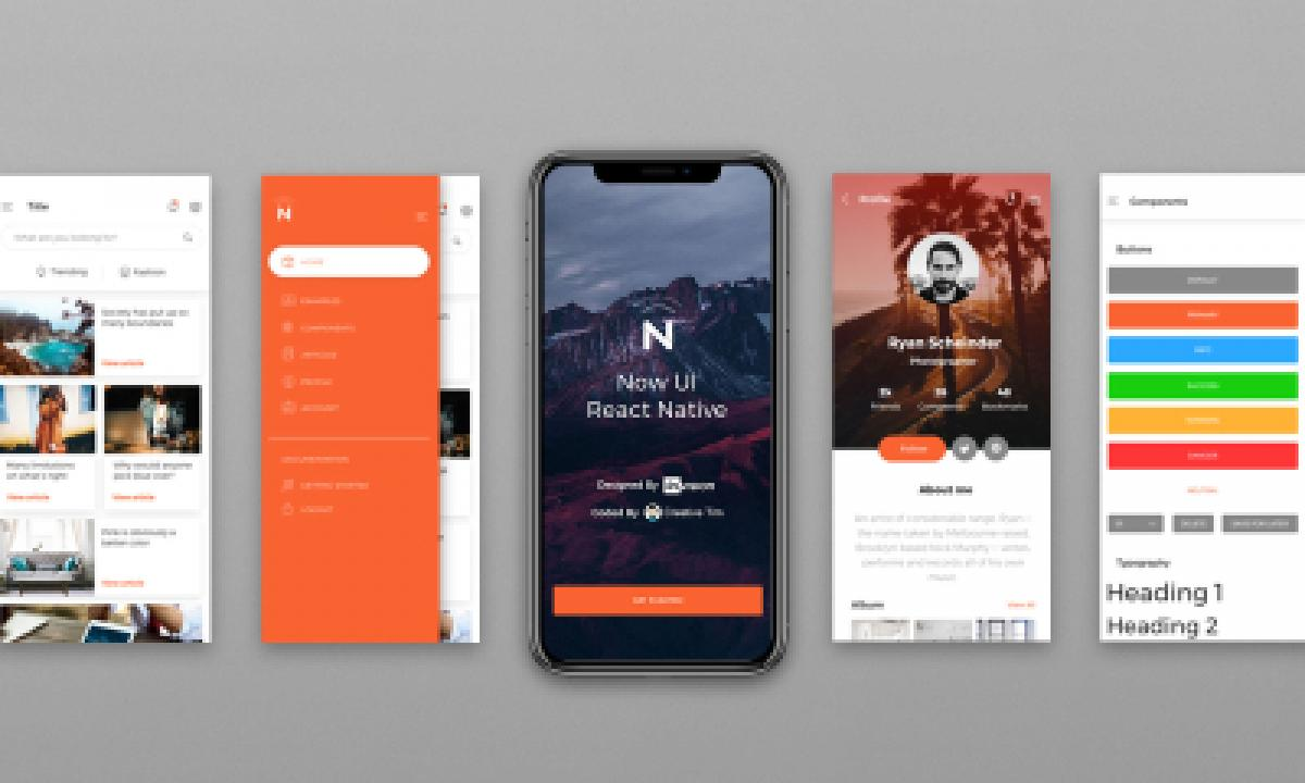 Now UI React Native - Figma Mobile Template