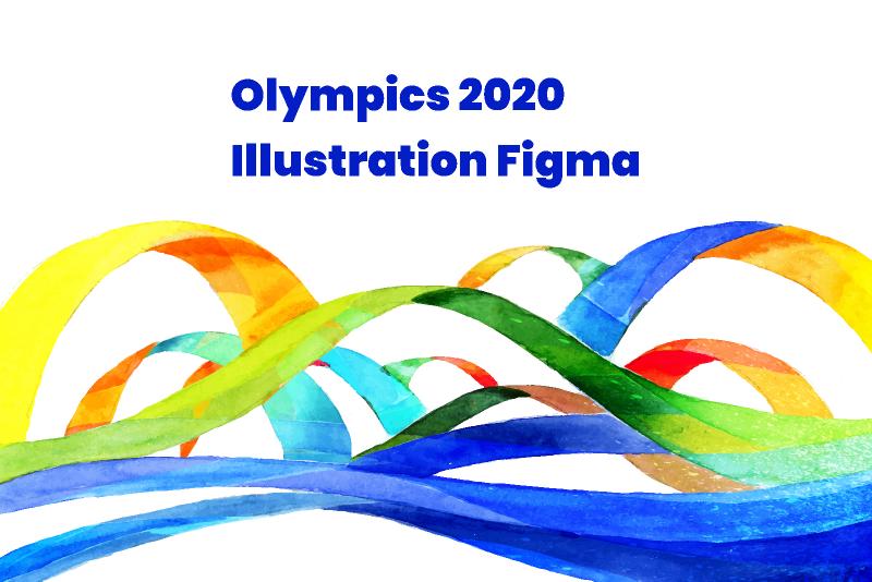 olympics 2020 illustration Figma