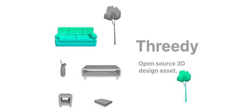 Open source 3D design assets
