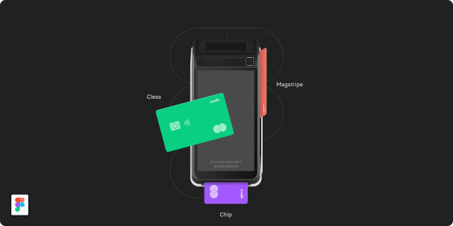 Payment Device Mockup – Saturn 1000 figmafree