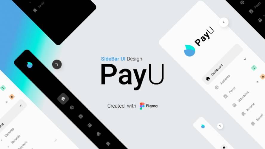PayU - SideBar UI Design Figma Template