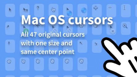 Perfect vector macOS cursors Figma