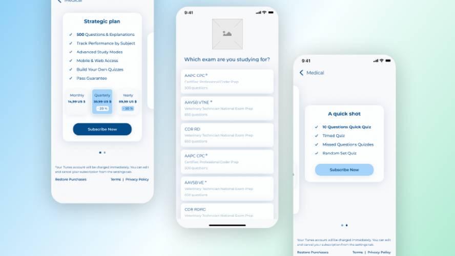 Personal NCLEX Coach - Mobile App figma