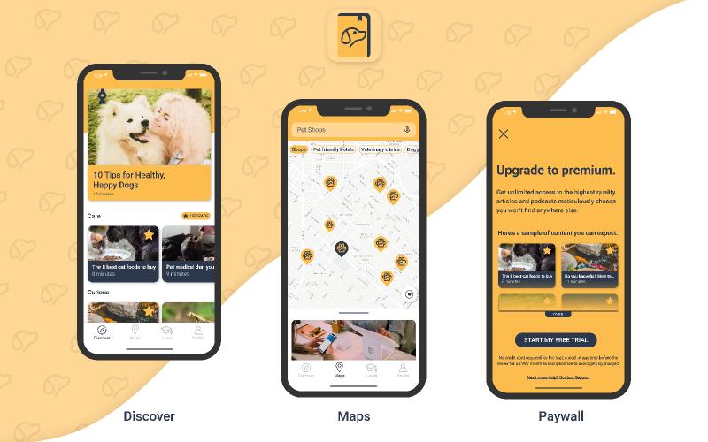 Pet app Figma