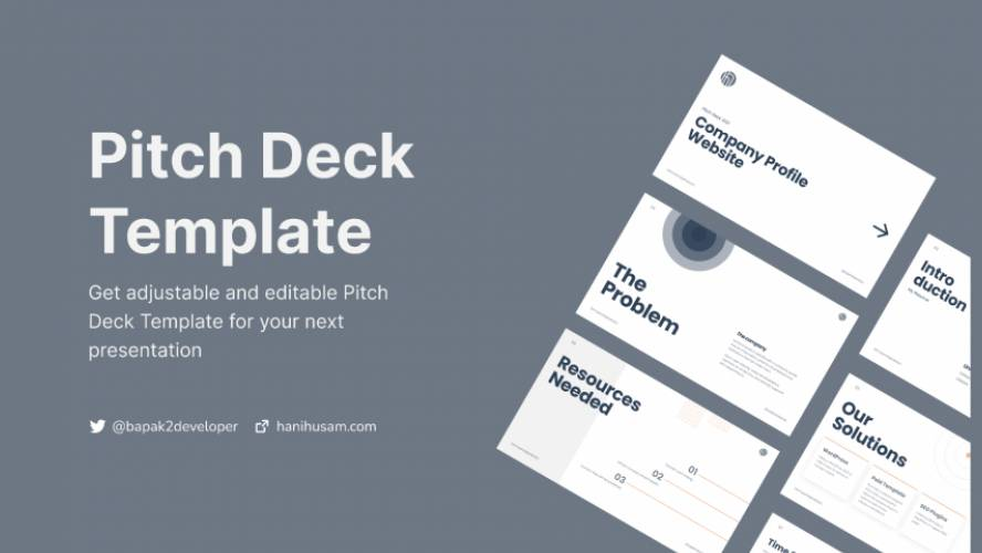 Pitch Deck Design Template Figma Free Download