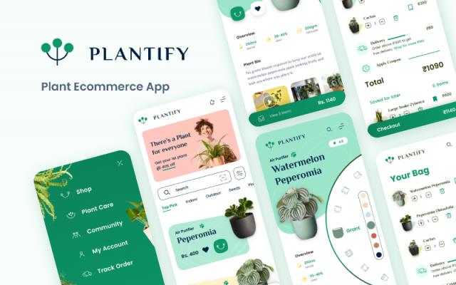 Plantify-Plant Ecommerce App figma